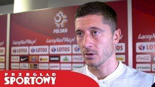 Robert Lewandowski po meczu Polska - Portugalia 2:3