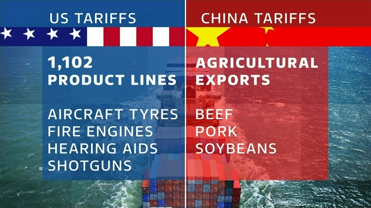 Image result for us tariffs v china tariffs