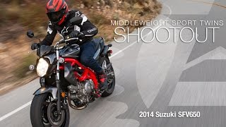 2014 Suzuki SFV650 - Sport Twins Shootout Part 1  - MotoUSA