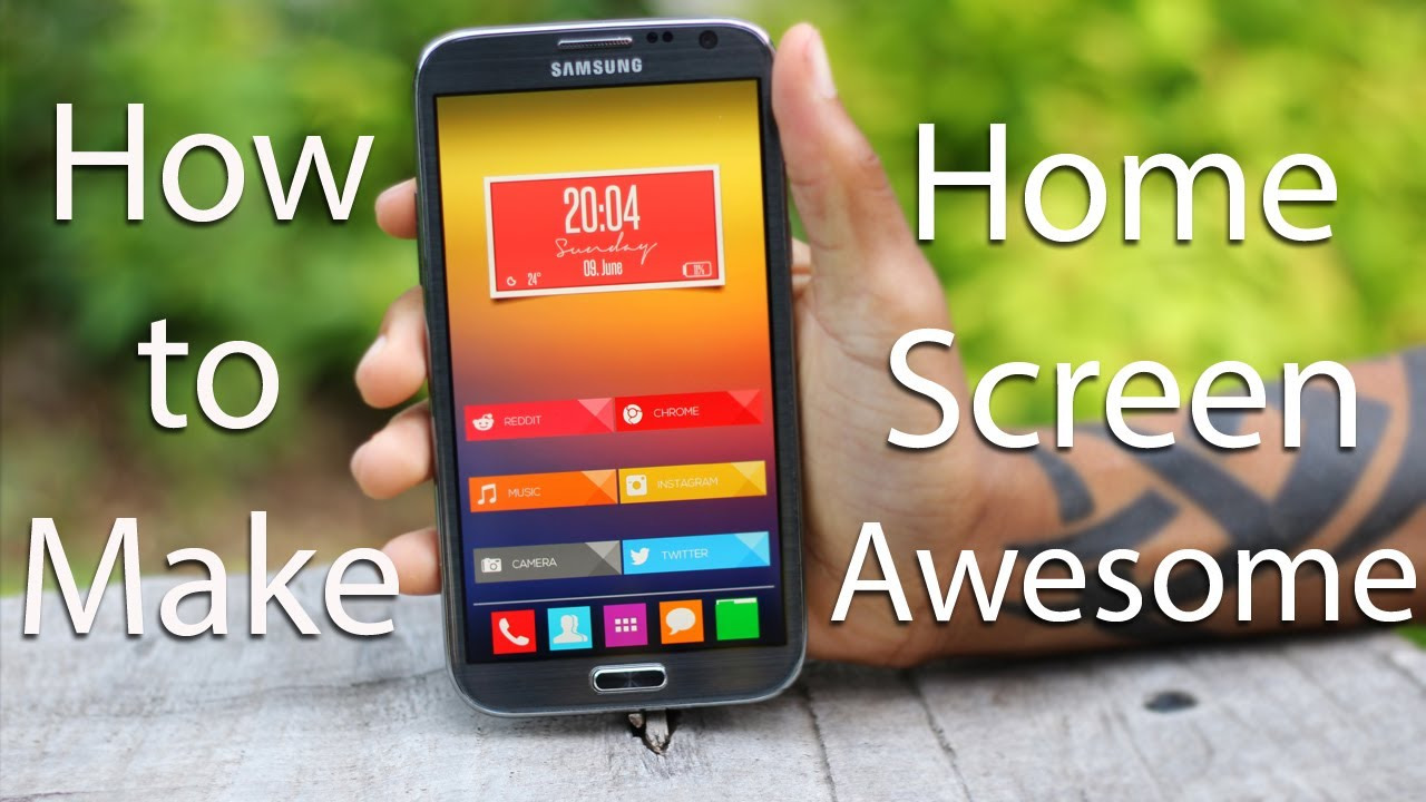 How-To] MAKE YOUR ANDROID HOME SCREEN AWESOME - YouTube