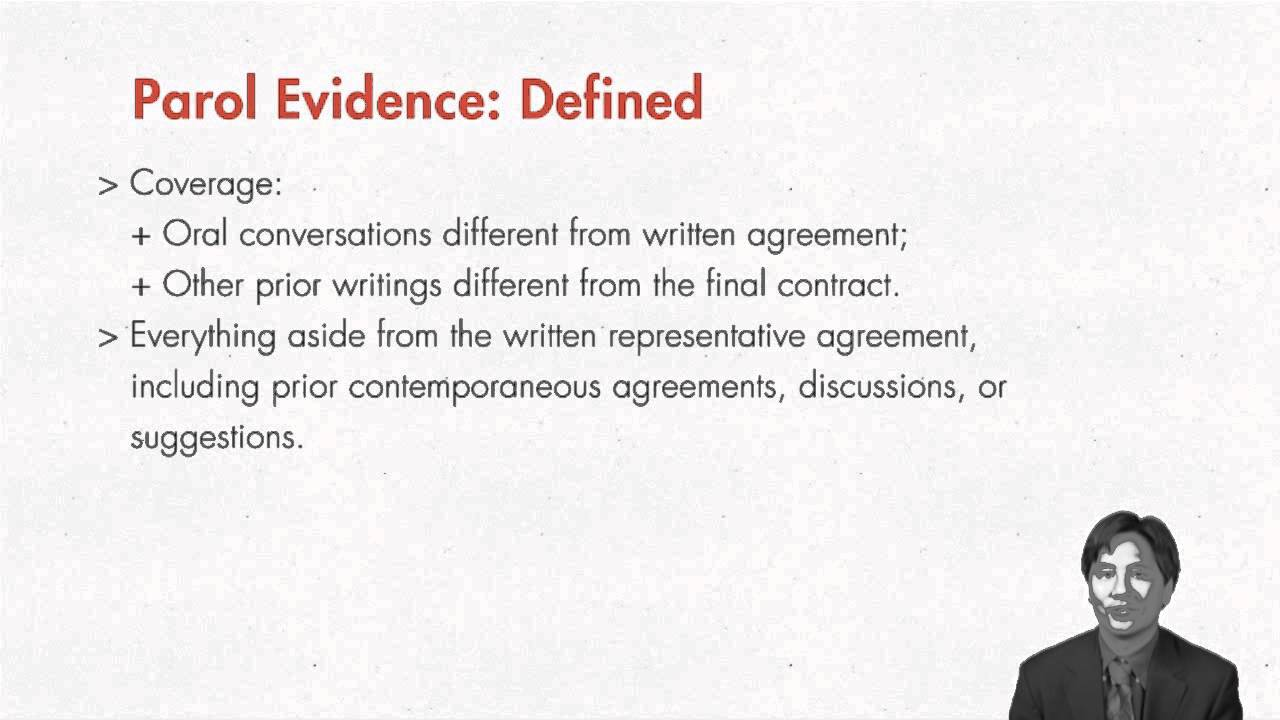 Contract Law Parol Evidence Rule Quimbee Youtube