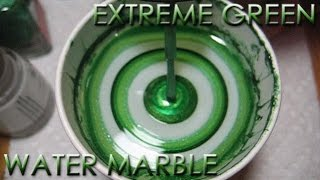Extreme Green Water Marble | DIY Nail Art Tutorial | Addicted to Color Series