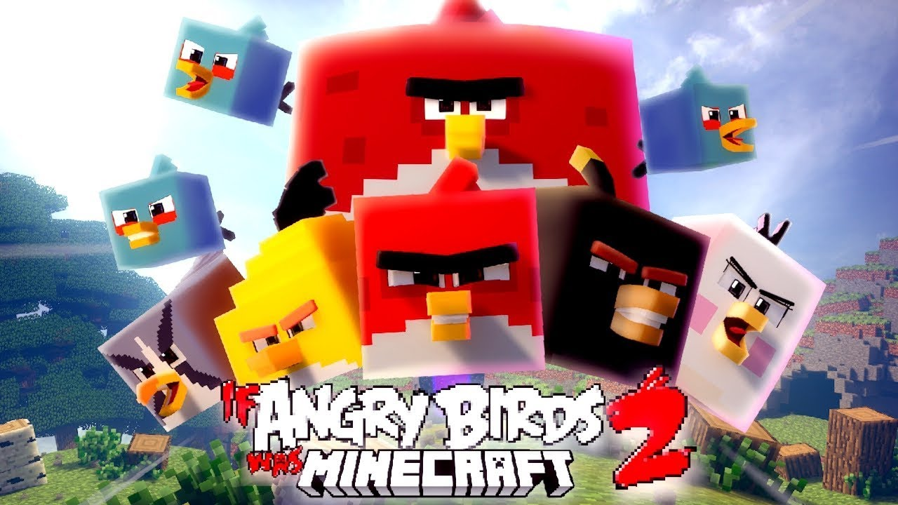 If Angry Birds Was Minecraft 2 [ Minecraft Animation ]