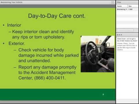 GSA Fleet Desktop Workshop: Maintaining Your GSA Vehicle
