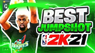 BEST CUSTOM JUMPSHOT in NBA 2K21 • 100% HIGHEST GREEN PERCENTAGE • FASTEST JUMPSHOT + BEST BADGES!!