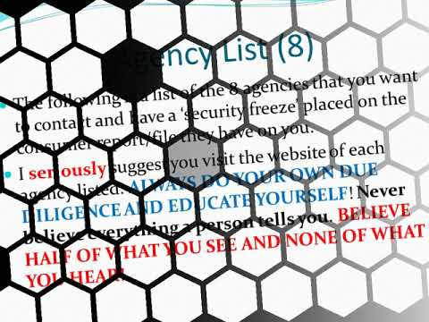 Credit Report Security Freeze And Suppressing Your Consumer File Information