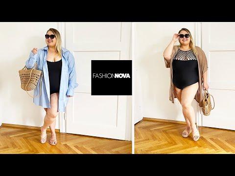 Гардероб в отпуск Fashion Nova Curve    Купальники и пляжная одежда большого размера ☀️ - Видео онлайн
