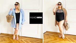 Гардероб в отпуск Fashion Nova Curve Купальники и пляжная одежда большого размера