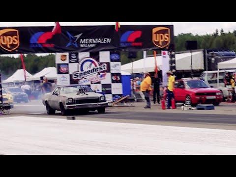 Audi 90 B3 Quattro 4.2T V8 vs '73 Chevrolet El Camino 7.6 V8 1/4 mile drag race