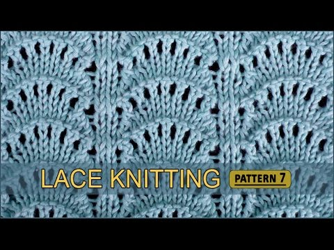Peacocks Tail Lace Knitting Pattern #7 - YouTube
