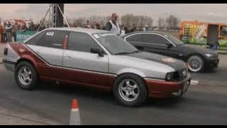 █▬█ █ ▀█▀ Audi 90 Quattro Turbo Vs. BMW E92 Drag Race(, 2010-04-05T17:41:50.000Z)