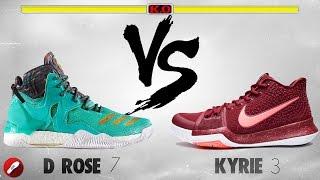 Adidas D Rose 7 vs Nike Kyrie 3! - YouTube