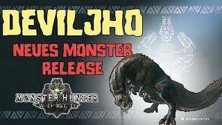 Monster Hunter World :  DEVILJHO - Neues Monster erscheint schon bald |  Alle Infos Deutsch