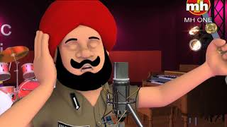 Jugni Song || Latest Punjabi Song || Happy Sheru || Funny Cartoon Animation || MH One Music