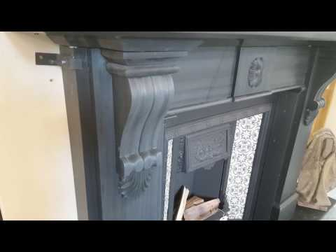 Restored Antique Slate Fireplace with Original Tiled Insert
