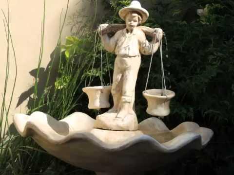fuente de agua gigante aguatero de cemento ideal exterior