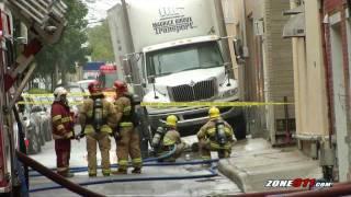 Une fuite de gaz causée par un camionneur