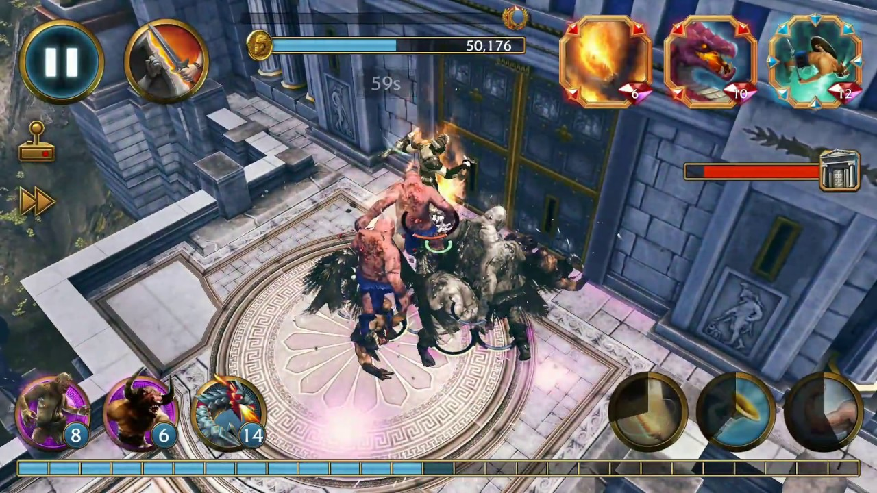 OLYMPUS RISING Best defender hero (Perseus with shield and boots)