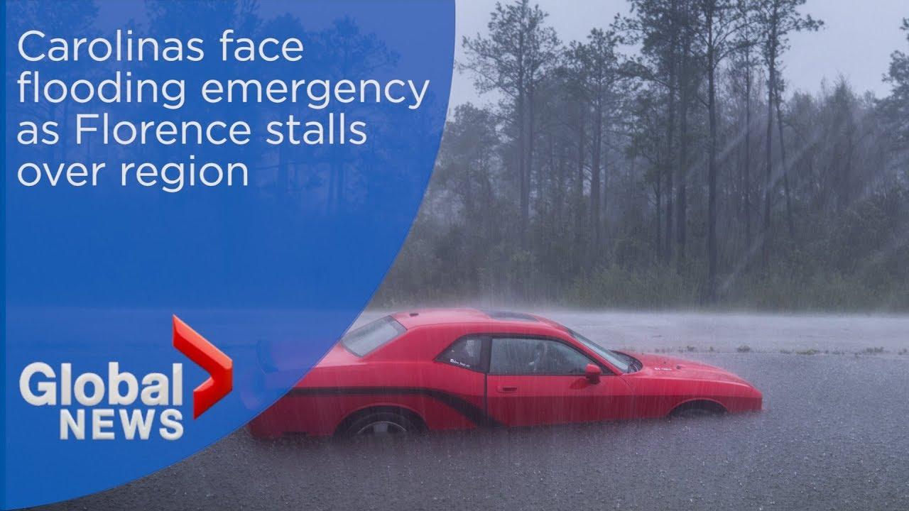 Hurricane Florence: Carolinas face flooding emergency as storm stalls over region