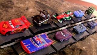 9 Cars 2 Diecast Display Case Disney Store Lightning Mcqueen, Union Jack Ramone By Blucollection