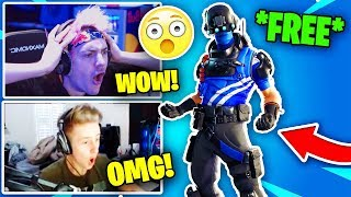 STREAMERS REACT TO NEW *FREE* CARBON COMMANDO SKIN! (COMING SOON) | Fortnite Battle Royale