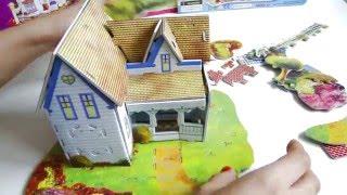 Собираем 3D пазлы. Замок, домик и торговый центр.  Обзор