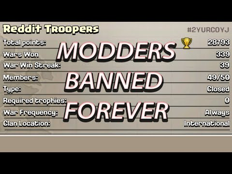 Clash of Clans xMod iMod Cheaters Banned!