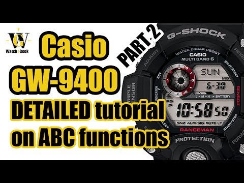 Casio GW 9400 Rangeman 3410 - tutorial on how to setup and use Altimeter Barometer $ Compass