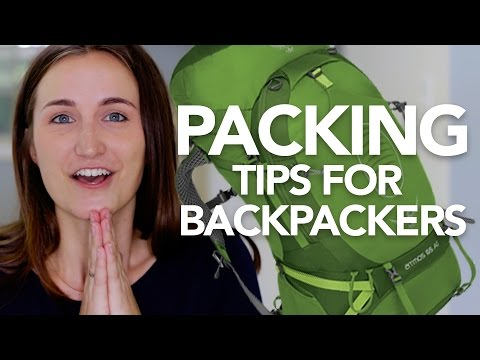 PACKING TIPS FOR BEGINNING BACKPACKERS