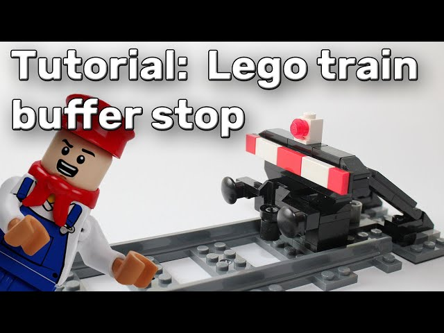 Lego train moc: buffer stop [build instruction] - Lego Zug Prellbock