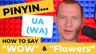 Chinese Pronunciation - WOW! Those FLOWERS Are Great! - Pinyin UA (WA)