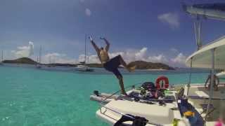 Kitesurfing in the Caribbean, Catamaran adventures