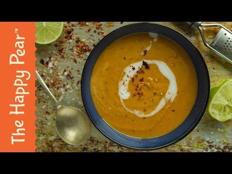 Sweet Potato & Lime Soup   VEGAN WINTER WARMER