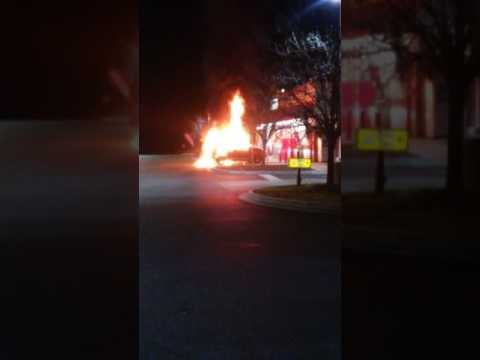 CAR ON FIRE AT KANGAROO GAS STATION!!!