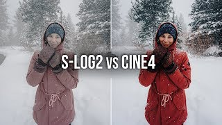 TESTING S-LOG2 on the Sony A7iii - SLOG2 vs CINE4