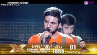 X-Factor4 Armenia-Gala Show 8-Edgar Ghandilyan-We Will Rock You  09 04 2017