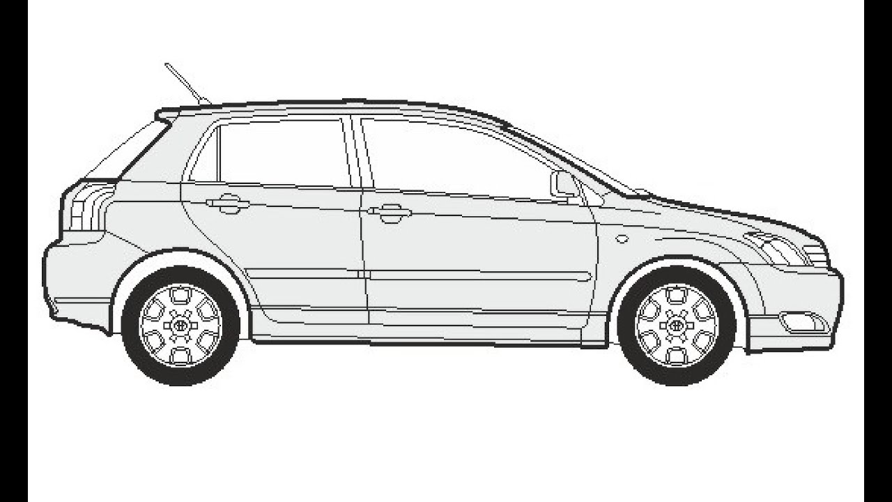 Toyota Corolla Drawing