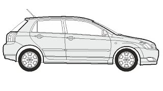 How to Draw a Toyota Corolla / Как нарисовать Toyota Corolla