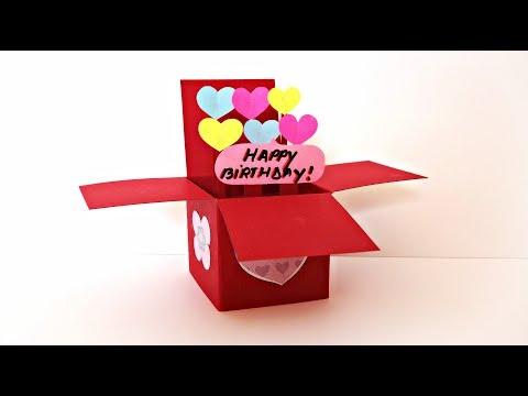Explosion Box Pop Up Card | Handmade Birthday Gifts | Birthday card DIY | Maison Zizou
