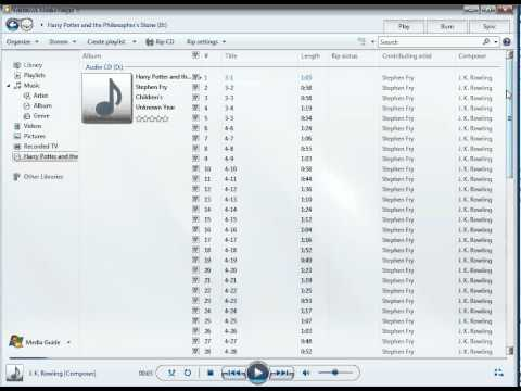 Windows Media Player- How to Rip a CD