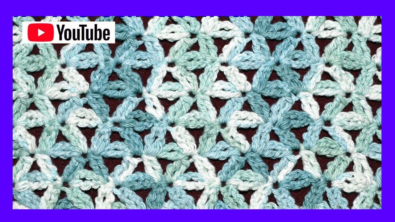 Punto Fantasía N° 49 en tejido crochet tutorial paso a paso. - YouTube