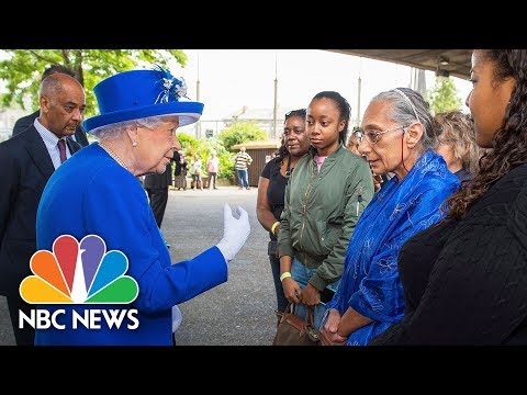 Queen Visits High-Rise Fire Homeless, Hears Stories Of Survival | NBC News