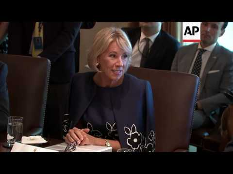 Cabinet Members Gush Over Trump During Meeting