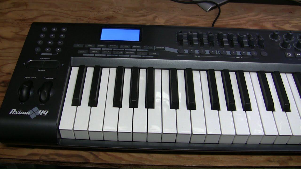 19 m audio axiom 49 keyboard repair youtube