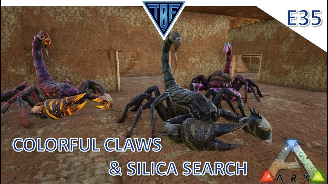 Colorful Claws and Silica Search! Ark Survival Evolved Modded Story Cluster - Scorched Earth E35