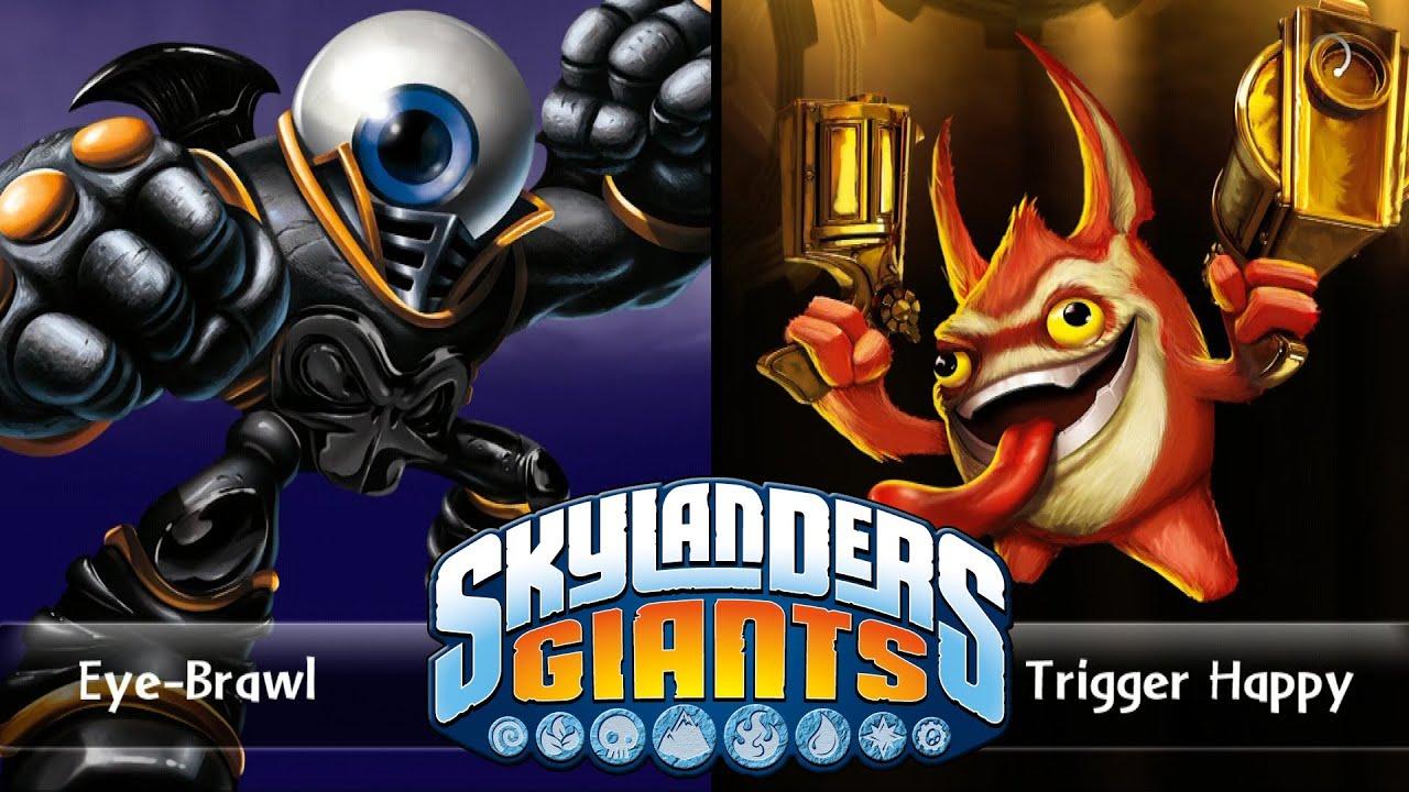 skylanders giants eye brawl vs trigger happy versus youtube