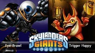 SKYLANDERS GIANTS - EYE-BRAWL VS. TRIGGER HAPPY (VERSUS)
