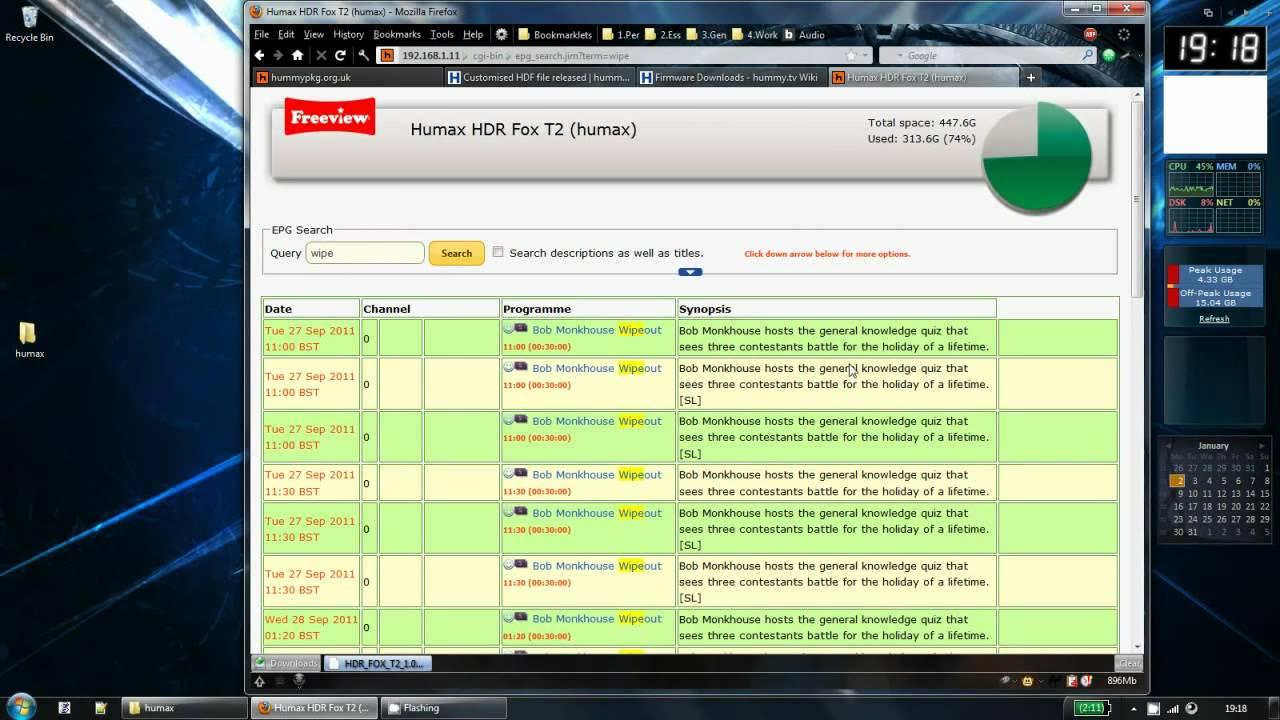Humax HDR-Fox T2 - Custom Firmware - Part #3 - Web Interface - [HD]