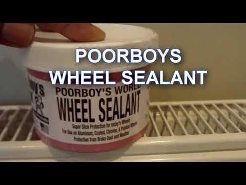 Poorboys Wheel Sealant. BEST RESULTS