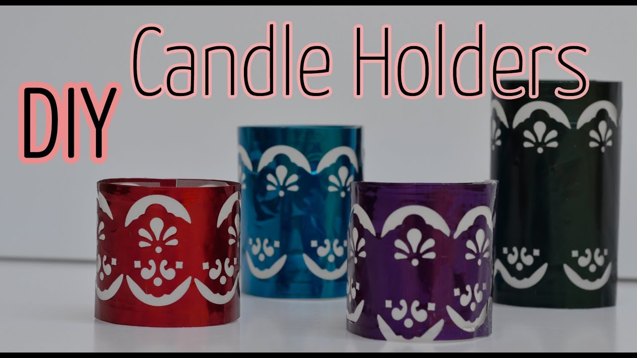Diy crafts candle holder ana diy crafts youtube for Candle holder crafts